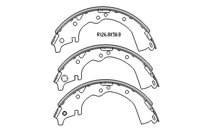 Ebc Brake Pads >> BRAKE SHOES Toyota Hilux 2WD YN57 SR5 1983-1989 REAR DRUM ...