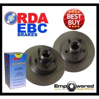 Chevrolet Suburban with 11'' REAR DRUM 1992-1999 FRONT DISC BRAKE ROTORS + PADS