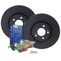 DIMPLED & SLOTTED Landcruiser 105 Series 1998-2007 FRONT DISC BRAKE ROTORS + 4X4 PADS RDA7673D