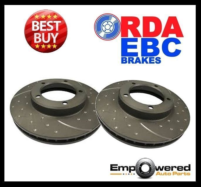 DIMPLED SLOTTED FRONT DISC BRAKE ROTORS for Mercedes C117 CLA180 *295mm* 2013 on