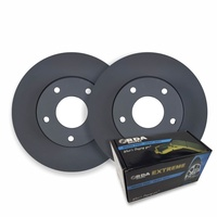 RDA REAR DISC BRAKE ROTORS + BRAKE PADS for Audi Q7 4L 4.2TD 250Kw RDA8029