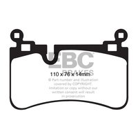 EBC YELLOW STUFF REAR BRAKE PADS for MERCEDES-BENZ W204 C63 2008-2015 DP41839