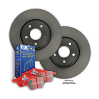 RDA FRONT DISC BRAKE ROTORS + EBC CERAMIC PADS for Chevrolet Corvette 1963-1982