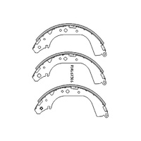 RDA REAR BRAKE SHOES for Toyota Hilux 4WD LN164 172 190 8/1997-4/2005 R1660
