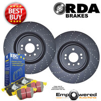 CROSS DRILLED REAR DISC BRAKE ROTORS + PADS for Mercedes A45 AMG W176 2013-2019