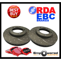 DIMPLE SLOTTED FRONT DISC BRAKE ROTORS+PADS for Subaru Liberty GT 316mm 2009 on