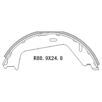 RDA REAR HAND BRAKE SHOES for Volvo S60 XC90 R2018 PAIR