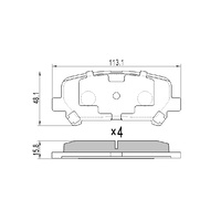 RDA GP MAX REAR BRAKE PADS for HOLDEN COLORADO 7 2012 onwards - RDB2263