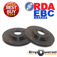 DIMP SLOT FRONT DISC BRAKE ROTORS for Mitsubishi Lancer CJ Ralliart CY4A 2009 on