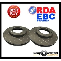 DIMPLED SLOTTED For Nissan Dualis SeriesII 2000+ REAR DISC BRAKE ROTORS RDA7657D