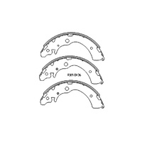 REAR DRUM BRAKE SHOES Fits Honda HRV 1.6L 5 Door 2001 onwards PAIR - R1999