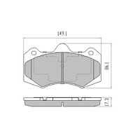 FRONT DISC BRAKE PADS for Holden Commodore HSV VF Series 2013 on RDX2164SM