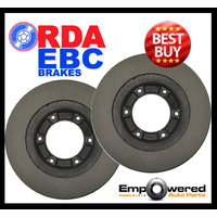 RDA FRONT DISC BRAKE ROTORS w/WARRANTY for Iveco Daily 65C18 3.0TD 5/2007-6/2013