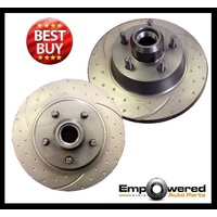 DIMPLD SLOTTED REAR DISC BRAKE ROTORS for Renault Clio III 1.6L 2005 on RDA7359D