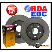 FRONT DISC BRAKE ROTORS+ PADS & SENSORS for Mercedes Benz W210 E320 6/1995-2002