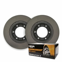 Nissan Patrol GU II 3.0L DDTi 2007 on REAR DISC BRAKE ROTORS + RDA PADS RDA622
