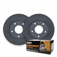 FRONT DISC BRAKE ROTORS + PADS for Chrysler Grand Voyager RT 2.8TD 4/2008-7/2011