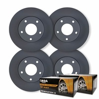 FULL SET FRONT & REAR DISC BRAKE ROTORS + PADS for Holden Commodore VE VF V6