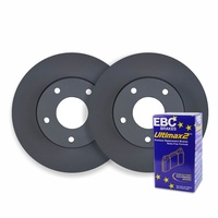 FRONT DISC BRAKE ROTORS + PADS for Mercedes Benz W204 C200K 135Kw 1/2007-1/2014