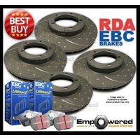 DIMPLED SLOTTED FULL SET DISC BRAKE ROTORS+PADS for Mini Cooper D R56 2007-10