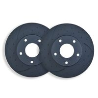 DIMPL SLOTTED REAR DISC BRAKE ROTORS for Jeep Grand Cherokee SRT8 6.4L 3/2011 on