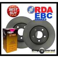 FRONT DISC BRAKE ROTORS+PADS for Chrysler Grand Voyager RT 3.8L 2008-11 RDA7798