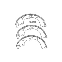 BRAKE SHOES Toyota Tarago CR21 1982 - 1990 REAR DRUM BRAKE SHOE SET - R1492
