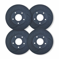 FULL SET DIMPLED SLOTTED RDA Disc Brake Rotors for CHRSYLER 300C V6 & V8