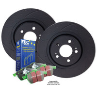 DIMPL SLOTTED Suburban 2500 6.5L 1998 on FRONT DISC BRAKE ROTORS + PADS RDA7714D