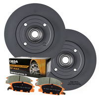 REAR DISC BRAKE ROTORS + PADS *267mm* fits Citroen Berlingo 1.6L 1.6D 1.6TD 2008-2012