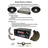 Holden Barina SB 1994-2001 REAR DRUM BRAKE SHOES with 12 MTH WARRANTY R1705 PAIR