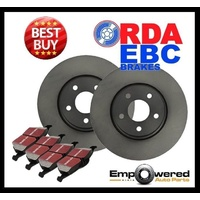 FRONT DISC BRAKE ROTORS + EBC PADS for Kia Rio JB 1.4L 1.6L 2006-2011 RDA7405