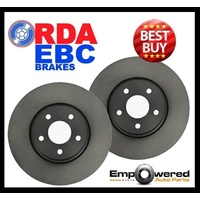 RDA REAR DISC BRAKE ROTORS for BMW 5 Series E34 540i V8 & M5 10/1988-9/1995