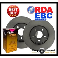 RDA FRONT DISC BRAKE ROTORS + PADS for Citroen C5 2.2TD 2.0TD 3.0L V6 2001-2008