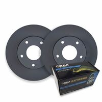 FRONT DISC BRAKE ROTORS+ PADS for Volkswagen Crafter 30-35 Series 4/2006-12/2016