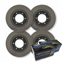FULL SET Toyota Landcruiser 70 Series 1990-1999 DISC BRAKE ROTORS + PADS & H/B SHOESRDA151