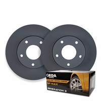 RDA FRONT DISC BRAKE ROTORS + PADS for Citroen C4 Picasso 1.6TD *283mm* 2007 on