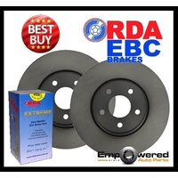 FRONT DISC BRAKE ROTORS + H/D PADS for Toyota  Hilux 4WD VZN167R 8/2002-2/2005