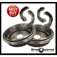 REAR BRAKE DRUMS + BRAKE SHOES for Holden Combo SC / XC Van 2002 - 2005 RDA6559