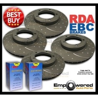 FULL SET DIMPLED SLOTTED DISC BRAKE ROTORS+PADS for Mini Cooper R55 2008-10