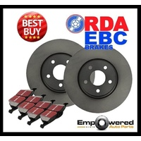 Fits Subaru Outback 2.5L BG9 Wagon 1999-7/2001 FRONT DISC BRAKE ROTORS + PADS