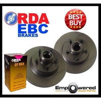 REAR BRAKE DISC ROTORS + BEARINGS & BRAKE PADS for Peugeot 308 2007 on RDA8245