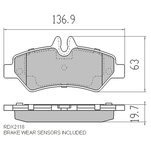 RDA EXTREME REAR BRAKE PADS for MERCEDES SPRINTER W906 10/2006 Onwards RDX2118