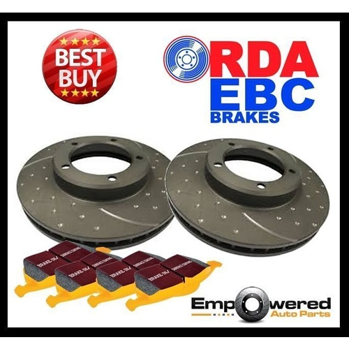 DIMPL SLOTTED FRONT DISC BRAKE ROTORS + TRACK PADS for Ford Territory TS TX GHIA