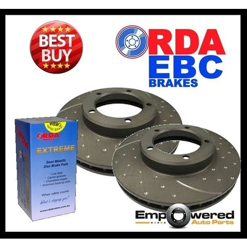 DIMPLED SLOTTED FRONT DISC BRAKE ROTORS for Mercedes W166 ML250 2012 on RDA7925D